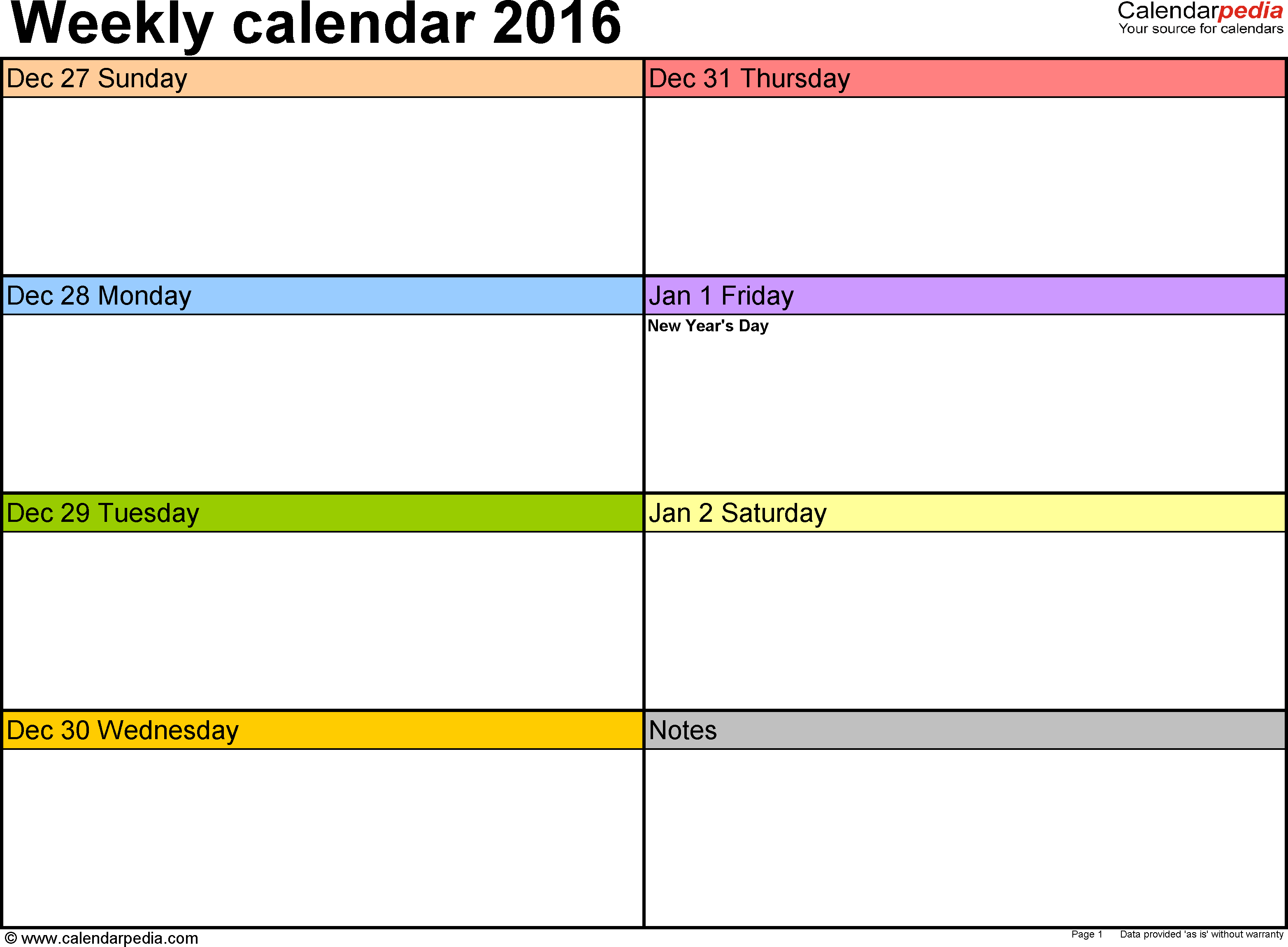 Printable Daily Planner Template Excel